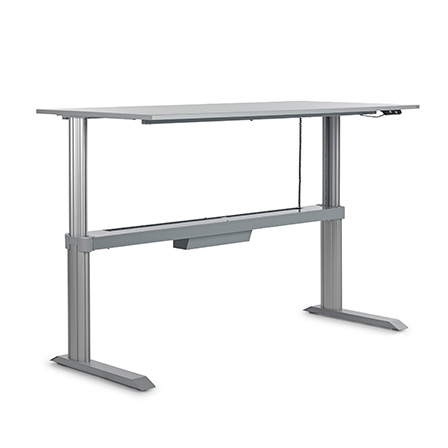 steh sitz tisch go basic melamin ahorn 80x120cm. Black Bedroom Furniture Sets. Home Design Ideas